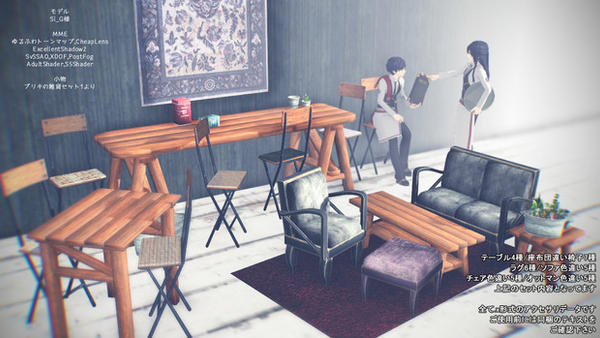 MMD Hipster Shabby Chic Cafe Furniture DL By Hack Girl ...