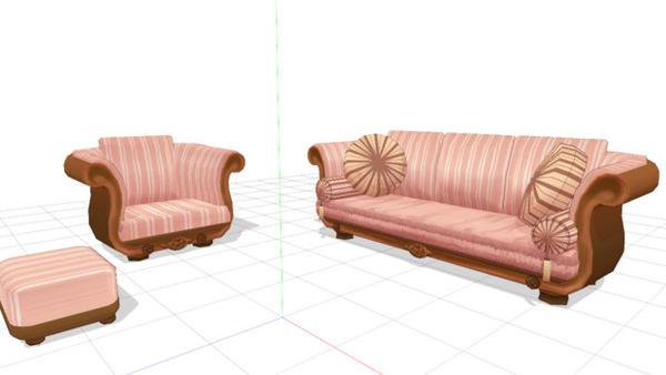 pink sofa set mmd download by hackgirl