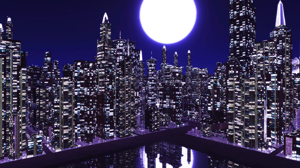 Night Time City Skydome Stage Mmd Download By Hack Girl On