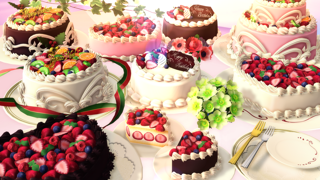 mmd realistic cake pack download by hack girl on deviantart