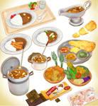 Curry Dinner Set MMD DOWNLOAD
