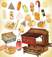 Japanese street food oden PACK DOWNLOAD MMD by Hack-Girl