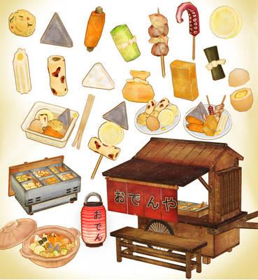 Japanese street food oden PACK DOWNLOAD MMD