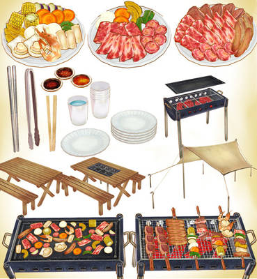 MMD BBQ FOOD PACK PLUS ACCESSORIES