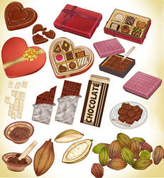 MMD chocolate pack download