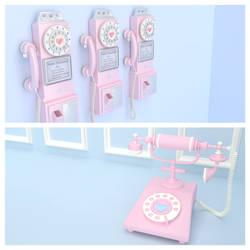 MMD KAWAII RETRO PHONE MODEL PACK DL