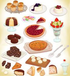 MMD CAKE MODEL PACK DL+