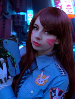 Officer Dva cosplay photoshop edit
