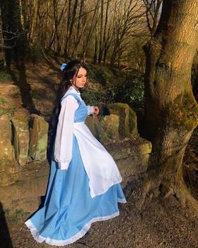 Long hair village belle Disney princess cosplay