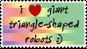 i heart triangle-shaped robots