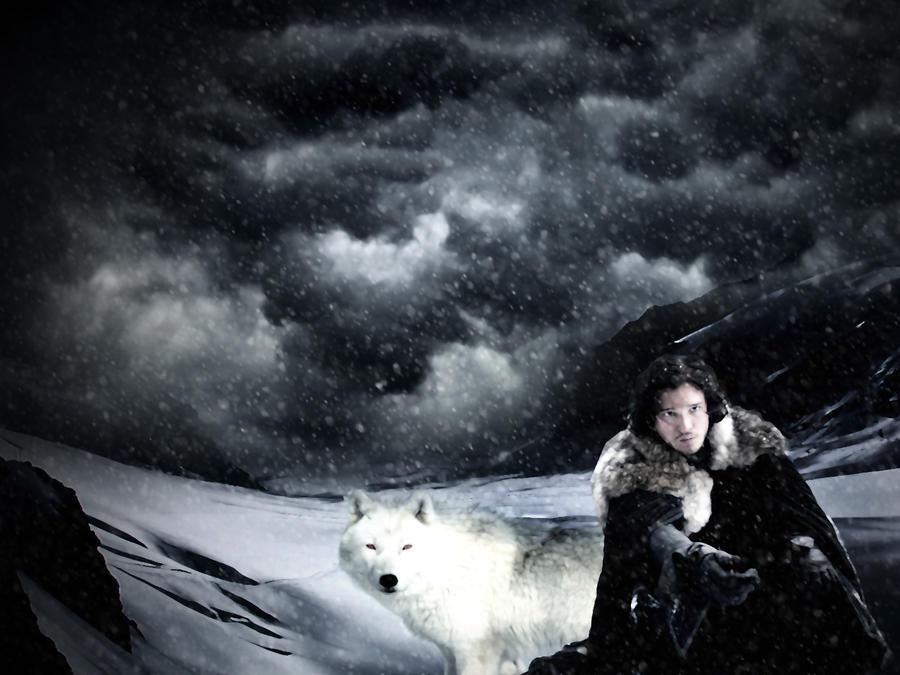 Jon Snow And Ghost By RaMercila On DeviantArt