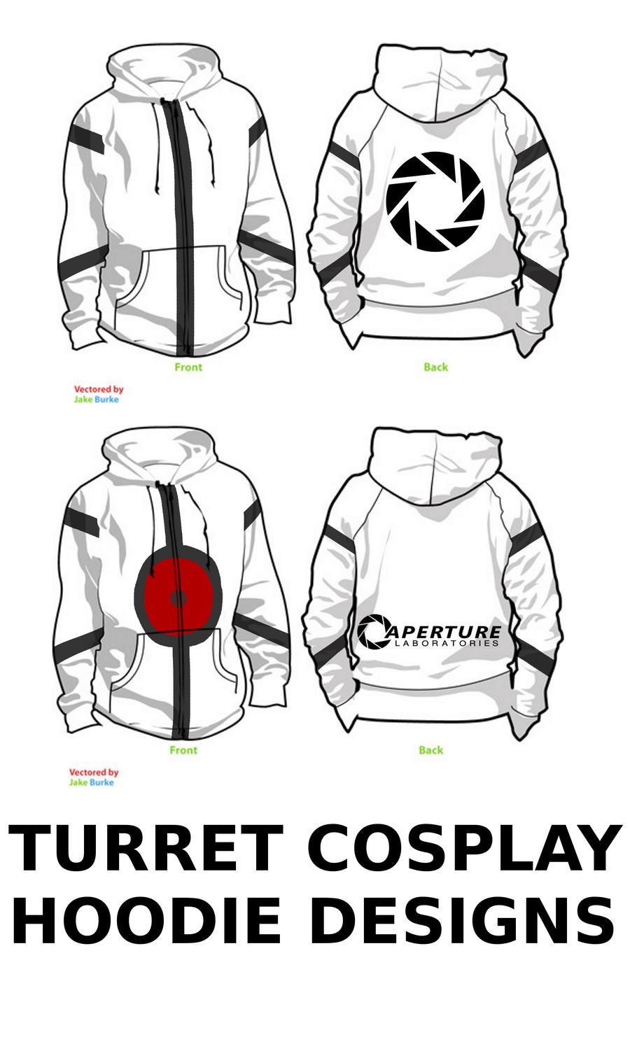 Turret cosplay hoodie designs by doodles4cash on DeviantArt