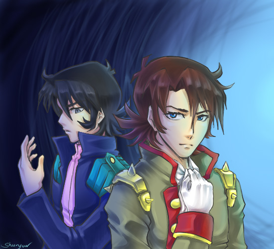 Schwarz and kyoji by retrozero on deviantart for Domon television