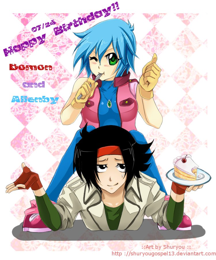 Domon and allenby happy b day by retrozero on deviantart for Domon television
