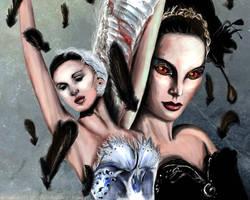 Odette and Odile - BLACK SWAN.