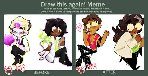 DRAW THIS AGAIN: one year later.