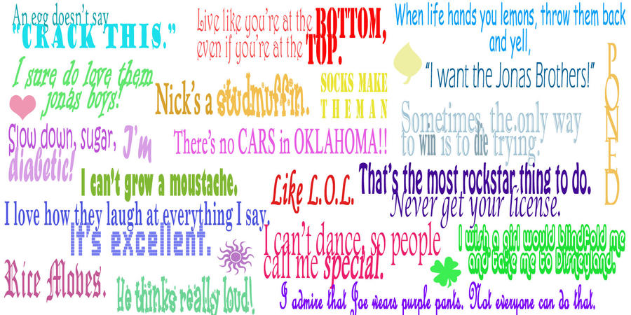 Jonas Brothers Quotes by DolphinWriter
