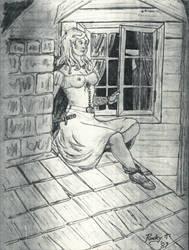 Amaryllis-Wood Elf Thief (ADnD 1st Ed) by TheMrRoc