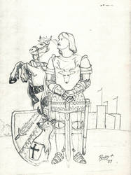 Sir Eric von Huntra-Human Paladin (ADnD 1st Ed) by TheMrRoc