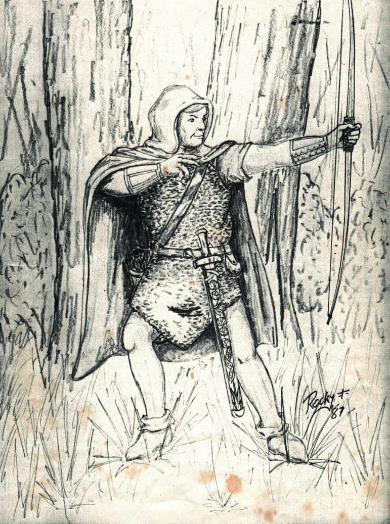Rellik Namuh-Wood Elf Ftr/MU (ADnD 2nd Ed) by TheMrRoc