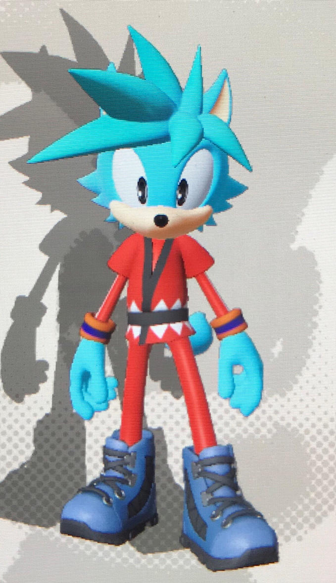 Goku [(Wolf) Super Saiyan Blue] (Sonic Forces) by Hiccup-Hedgehog18