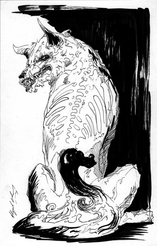 Inks : WOlf 2 by Abz-J-Harding