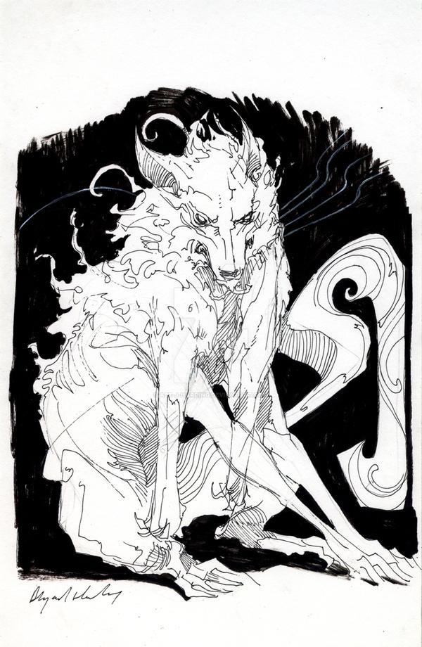 wolf sketch 2 by Abz-J-Harding