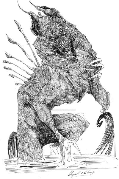 ink-black wolf by Abz-J-Harding