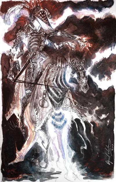 Treguna Mekoides and a little Dark Souls Inbetween by Abz-J-Harding
