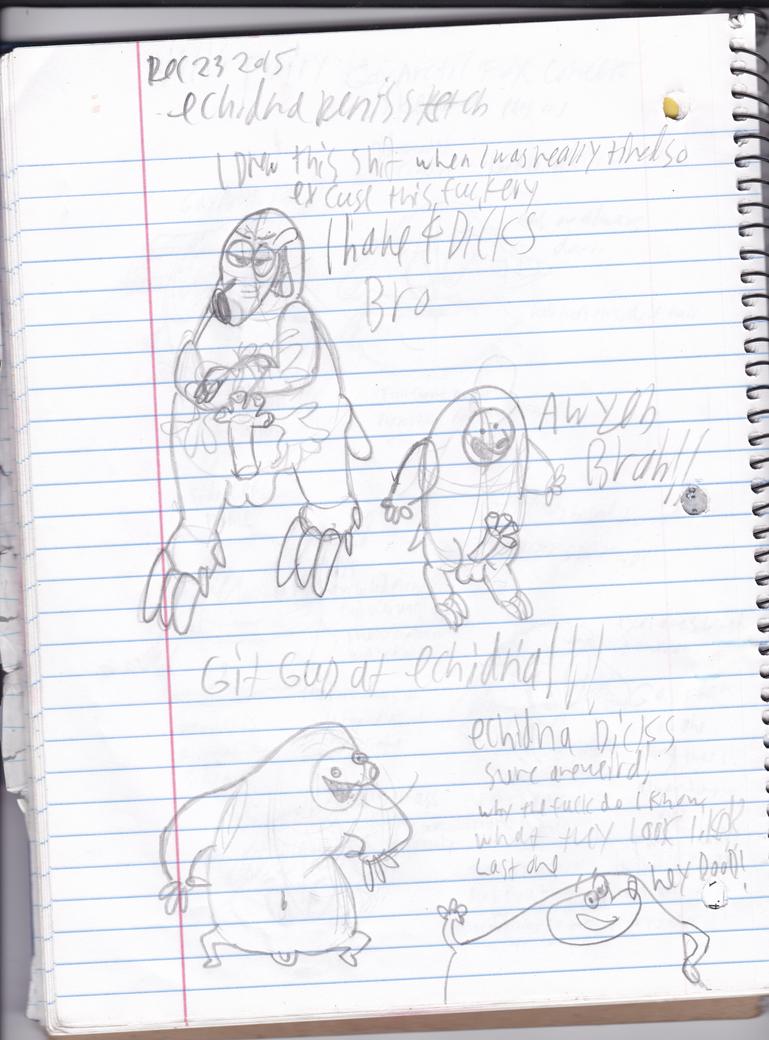 Echidna Sketches (WARNING:TRASH) by UncleReagan