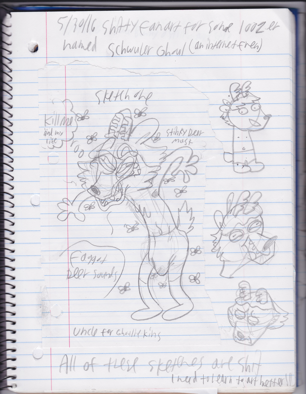 Fanart of Schwuler Ghoul's Dumb Deer Sona by UncleReagan