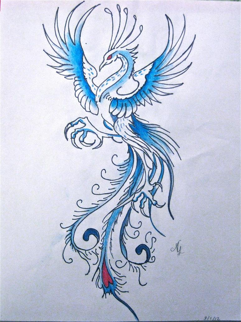 Blue Phoenix by kukiko...
