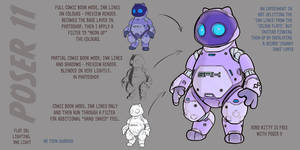 Robo-kitty toon-up, with Poser 11