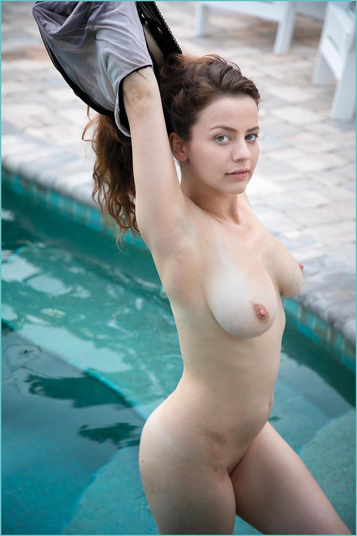Luna enjoying the pool 15 by DPAdoc