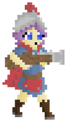 Clash Royale Musketeer Pixel Art by rainbowcraft2