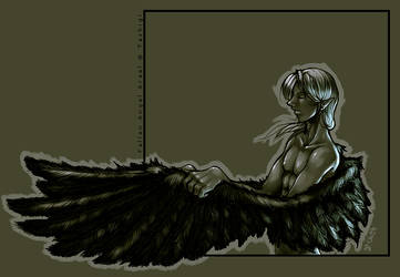 Fallen Angel Arael by drowdragon