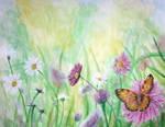 Butterfly summer - acrylic