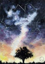 Constellations - Space Art  #019