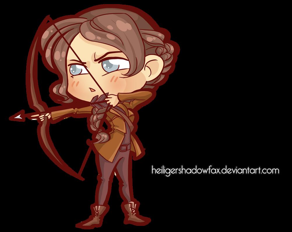 Commission: Hunger Chibi Games #Katniss by HeiligerShadowfax
