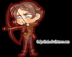Commission: Hunger Chibi Games #Katniss by Blatterbury