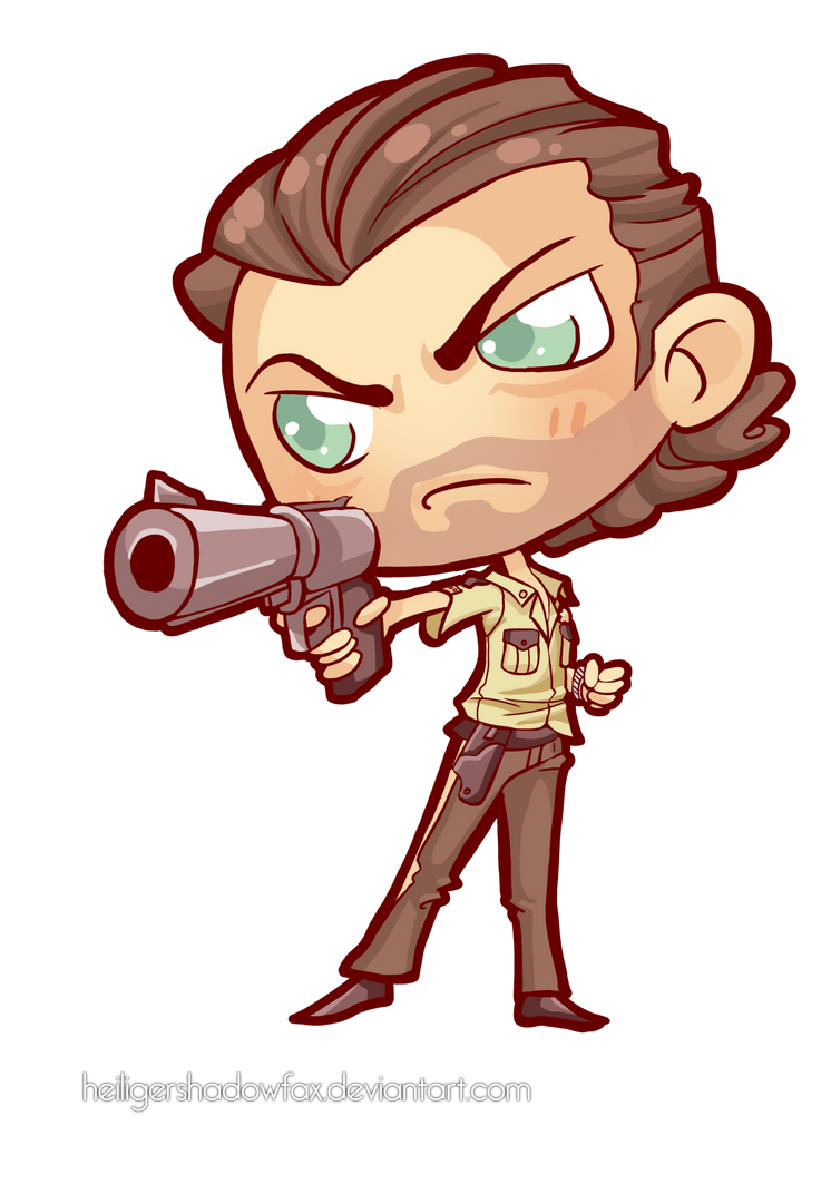 Commission The Walking Chibi Dead Rick Grimes By