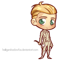 Commission: Hunger Chibi Games #Peeta by Blatterbury
