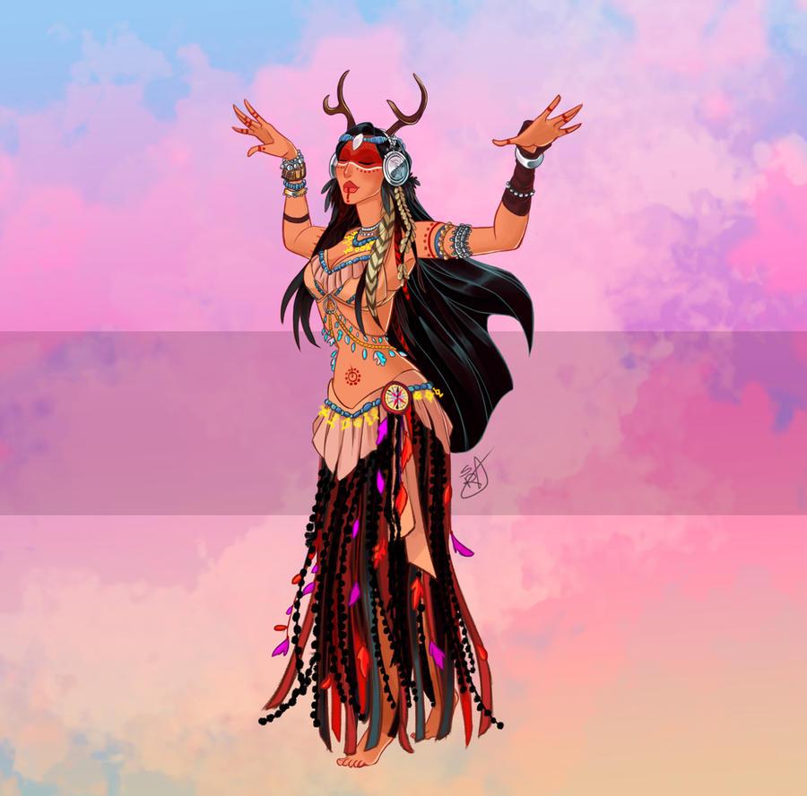 Disney Belly Dancers: Tribal Pocahontas By Blatterbury On