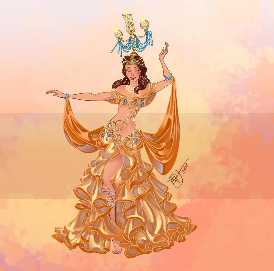 Disney Belly Dancers Raqs Shamadan By Blatterbury On