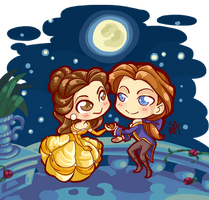 Chibi Commission: The Beauty and the Prince