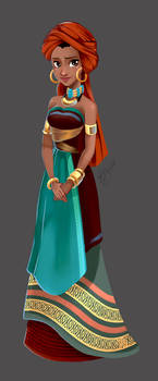 Commission_Subira_Disney Character Design