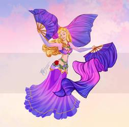 Disney Belly Dancers: Fan Veils by Blatterbury