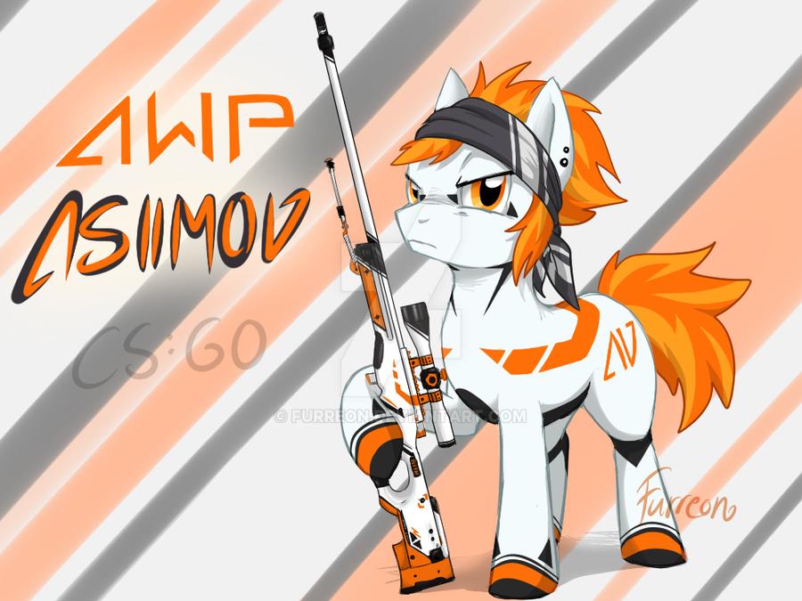 Awp asiimov pony cs go by furreon on deviantart - Awp asiimov css ...