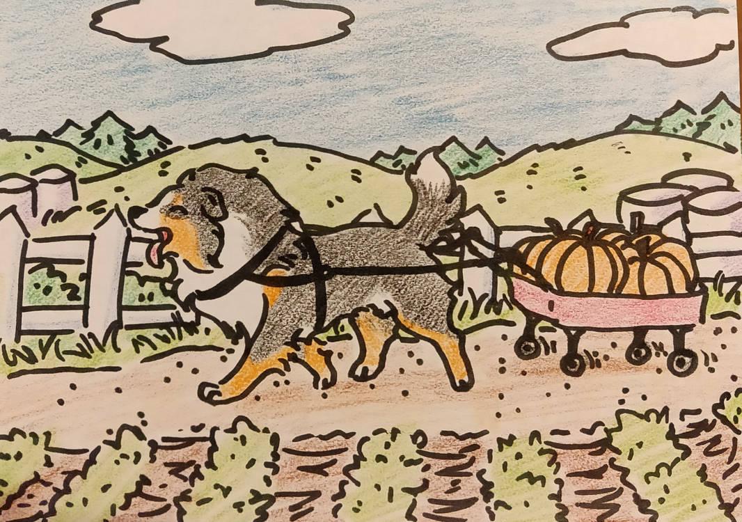 [CE] pumpkin wagon