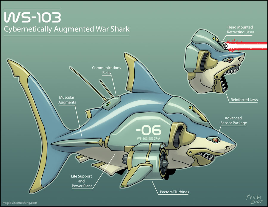 Laser Shark by McGibs